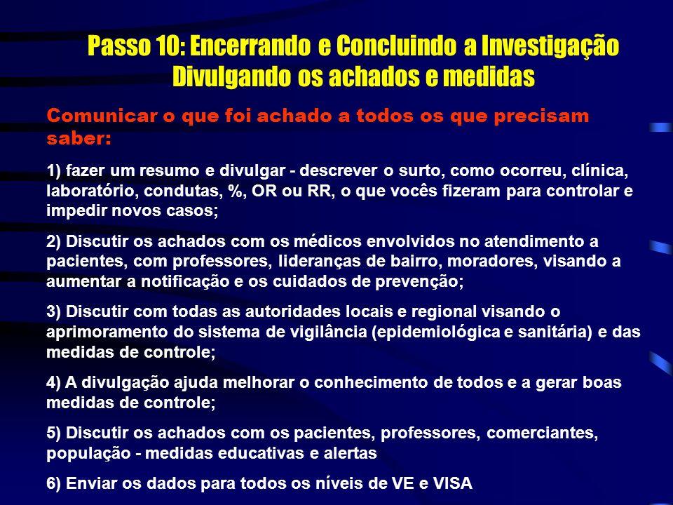 PASSO 10: ENCERRANDO E CONCLUINDO A INVESTIGAÇÃO DIVULGANDO OS ACHADOS E MEDIDAS E ENVIANDO OS DADOS RELATÓRIO FINAL
