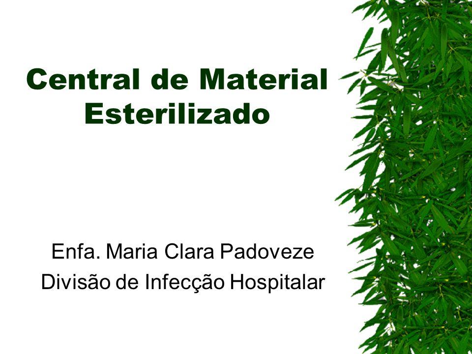 Central de Material Esterilizado Enfa. Maria Clara Padoveze Divisão de Infecção Hospitalar
