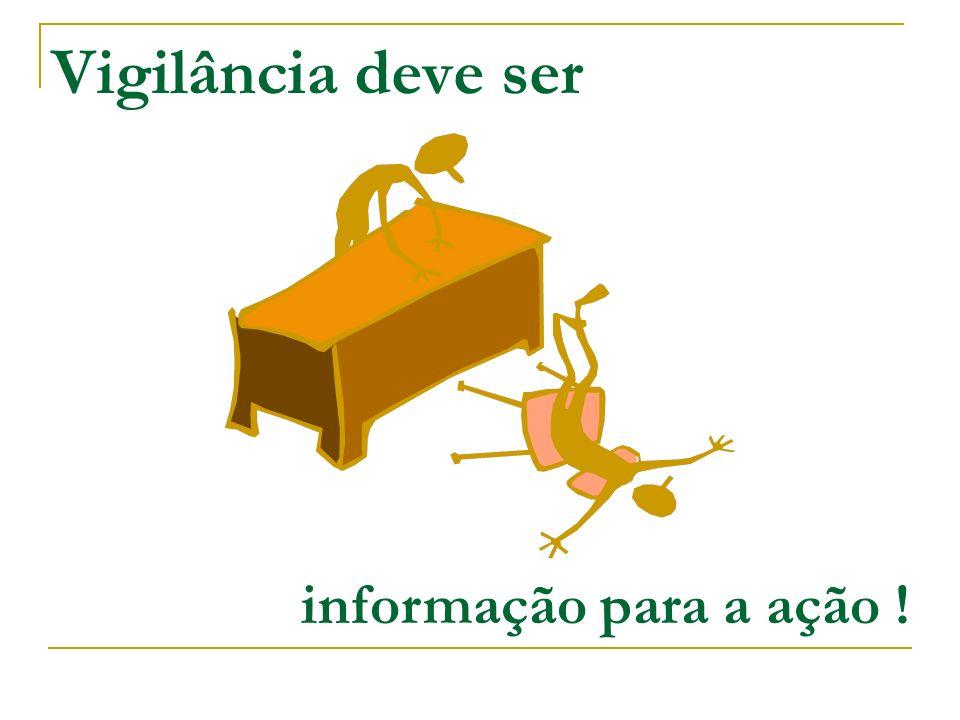 Vigilância deve ser informação para a ação !