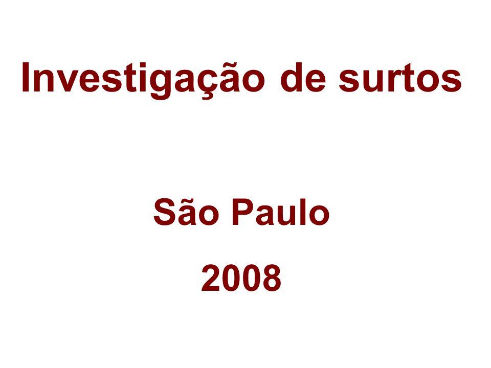 Investigação de surtos São Paulo 2008