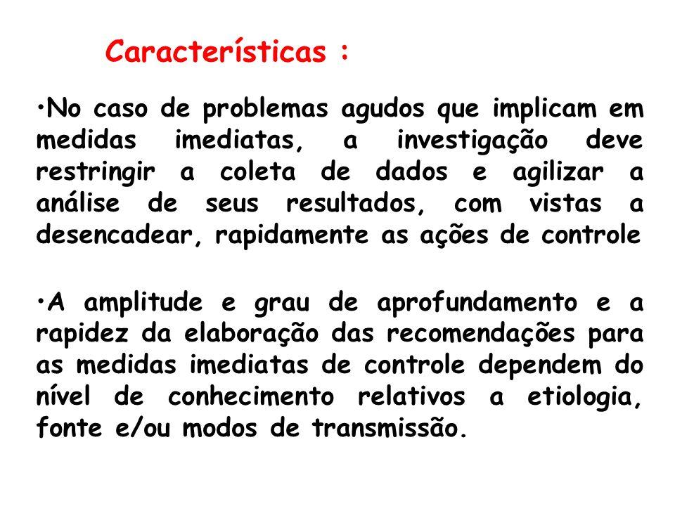 Descrever o grupo de casos em detalhes Identificar fatores comuns aos casos Obter denominadores para calcular taxas Comparar grupos