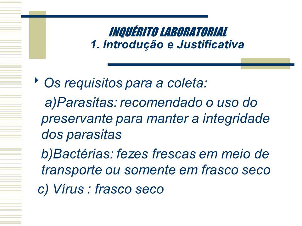 INQUÉRITO LABORATORIAL 1. Introdução e Justificativa qAS INDICAÇÕES DE EXAMES Falta de preocupação nas solicitações médicas em especificar a suspeita