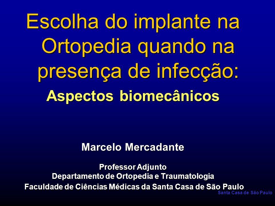 Santa Casa de São Paulo Referências para leitura 2 –6)Trentz OA, Platz A, Helmy N, Trentz O.: Response of osteoblast cultures to titanium, steel and hydroxyapatite implants.