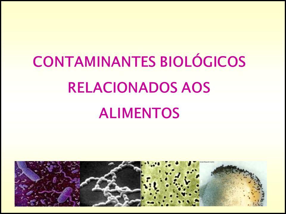 CONTAMINANTES BIOLÓGICOS RELACIONADOS AOS ALIMENTOS