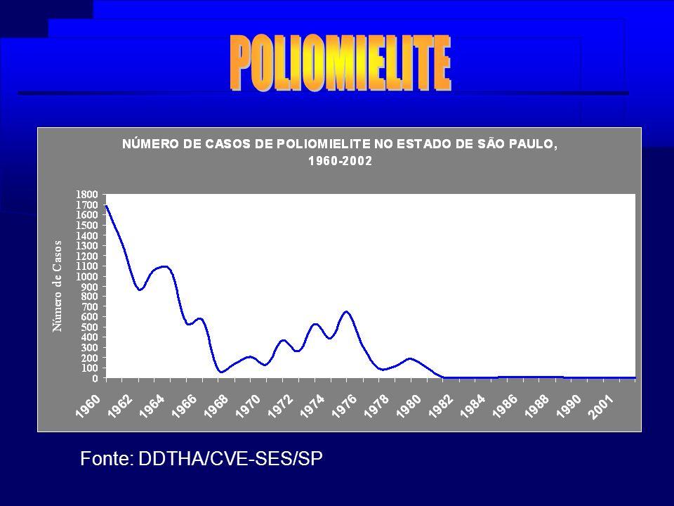 Distribuição de Casos e Óbitos de DCJ no Estado de São Paulo - 1990 a 2003* Fonte: DDTHA/CVE-SES/SP (VE, AIH, SEADE) (*) dados provisórios