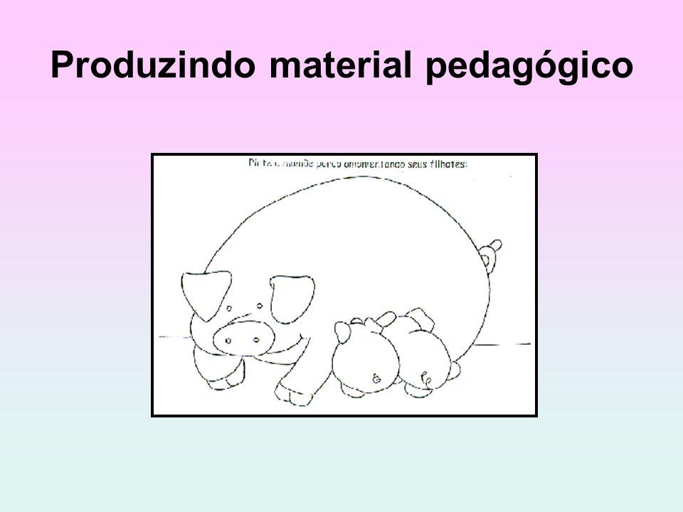 Produzindo material pedagógico