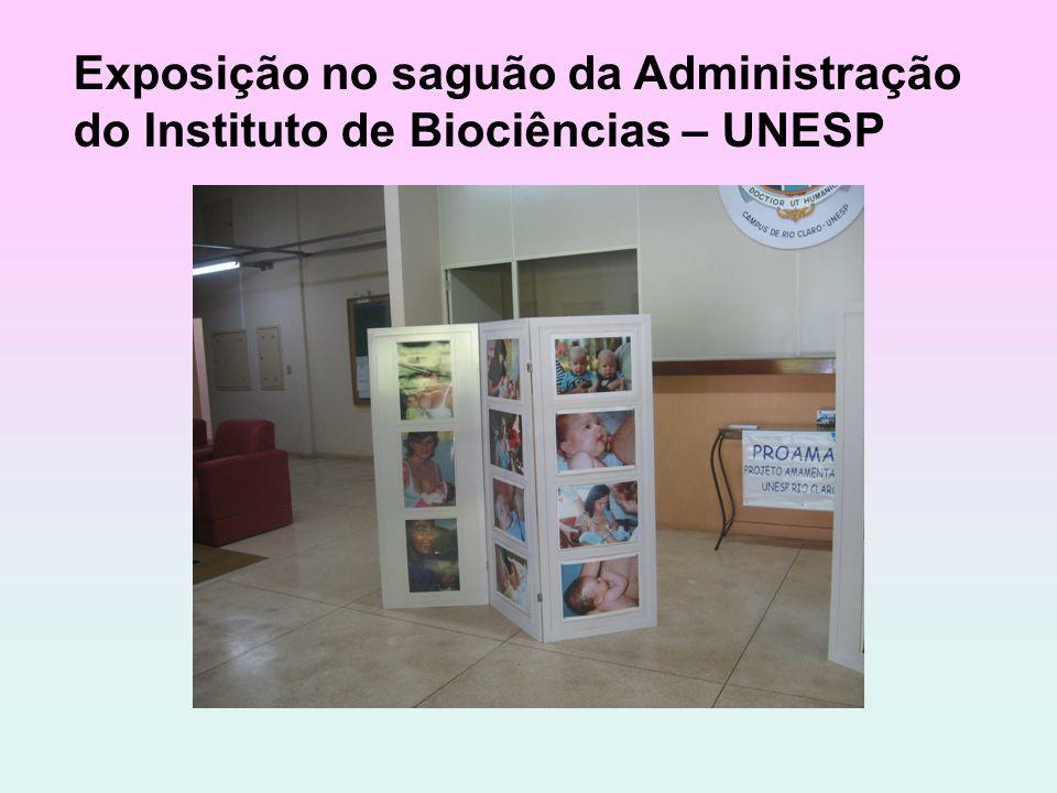 Exposição no saguão da Administração do Instituto de Biociências – UNESP