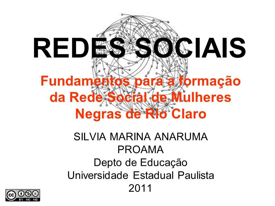 SILVIA MARINA ANARUMA PROAMA Depto de Educação Universidade Estadual Paulista 2011 REDES SOCIAIS Fundamentos para a formação da Rede Social de Mulheres Negras de Rio Claro