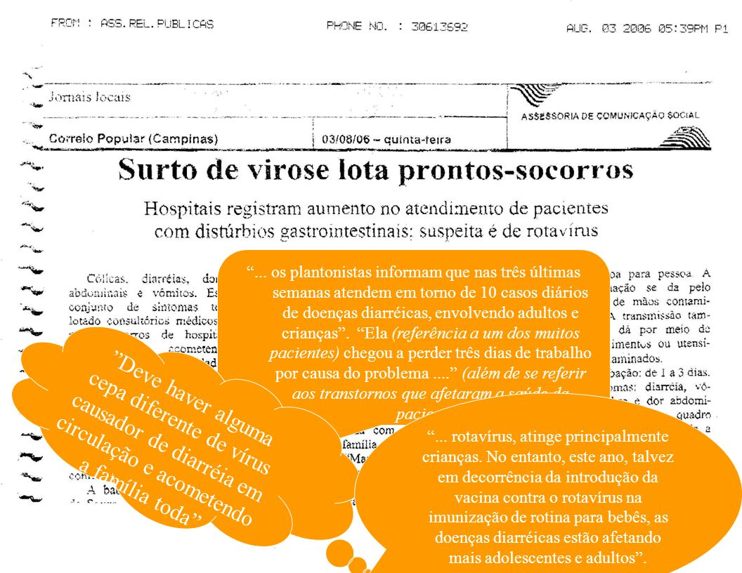 MDDA em Avaré – 2005: Estudo no PS Fonte: César MLV.