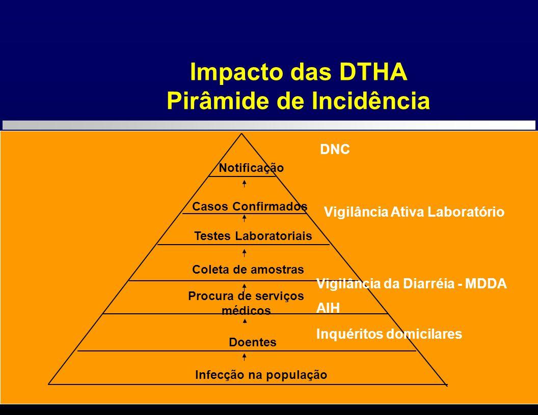 Monitorização da Doença Diarréica Aguda/Vigilância da Diarréia: Programa implantado em 23 Regionais de Saúde (DIR) e respectivos municípios - quase 600 municípios ao todo – alerta para surtos/epidemias – enfoque vigilância sindrômica e sentinela.