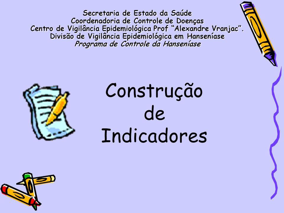 IndicadorCálculoUtilidadeParâmetros Coeficiente de detecção anual de casos novos de 0 a 14 anos por 100.000 hab.