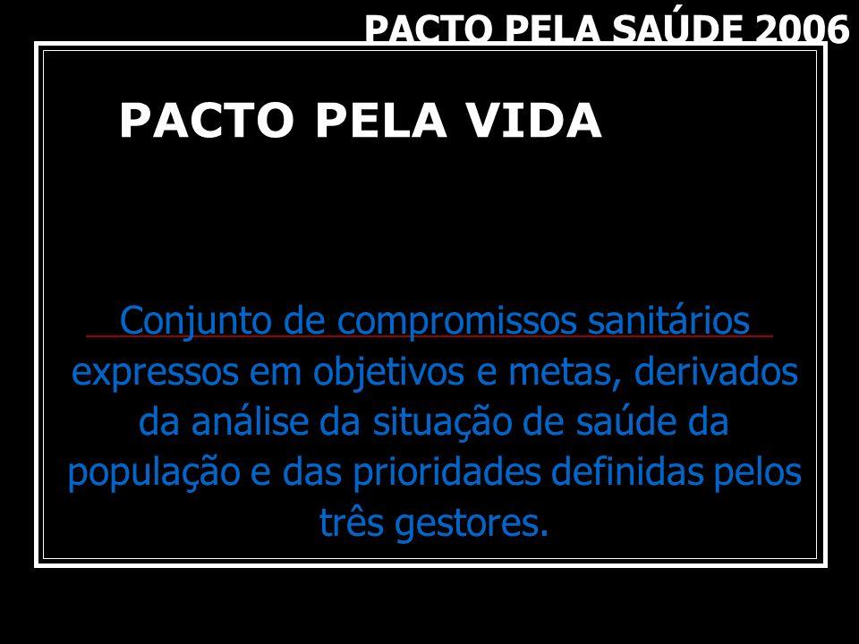 Conjunto de compromissos sanitários expressos em objetivos e metas, derivados da análise da situação de saúde da população e das prioridades definidas