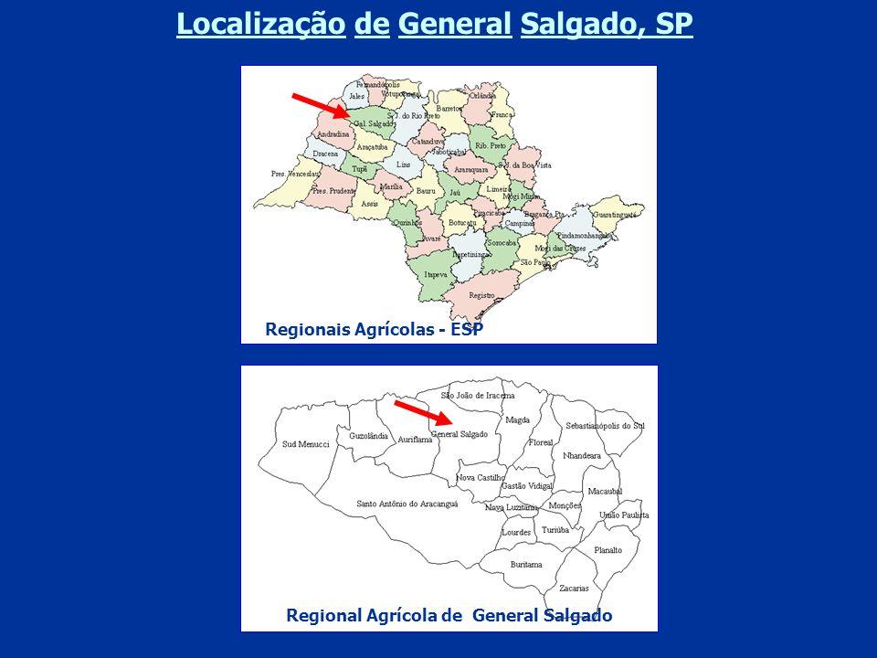 Localização de General Salgado, SP Regionais Agrícolas - ESP Regional Agrícola de General Salgado