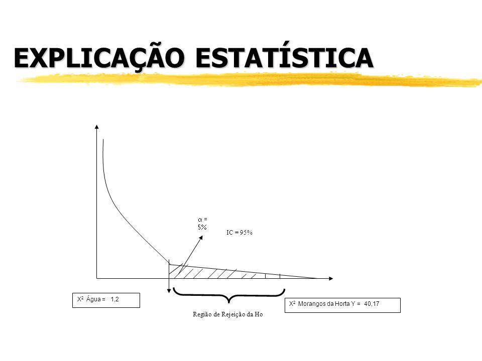 PASSO 4 Compare o X 2 à probabilidade (p-value) de valores críticos da distribuição de X 2 : Valores de X 2 p-value 2,710,10 3,840,05 7,880,005 CÁLCUL