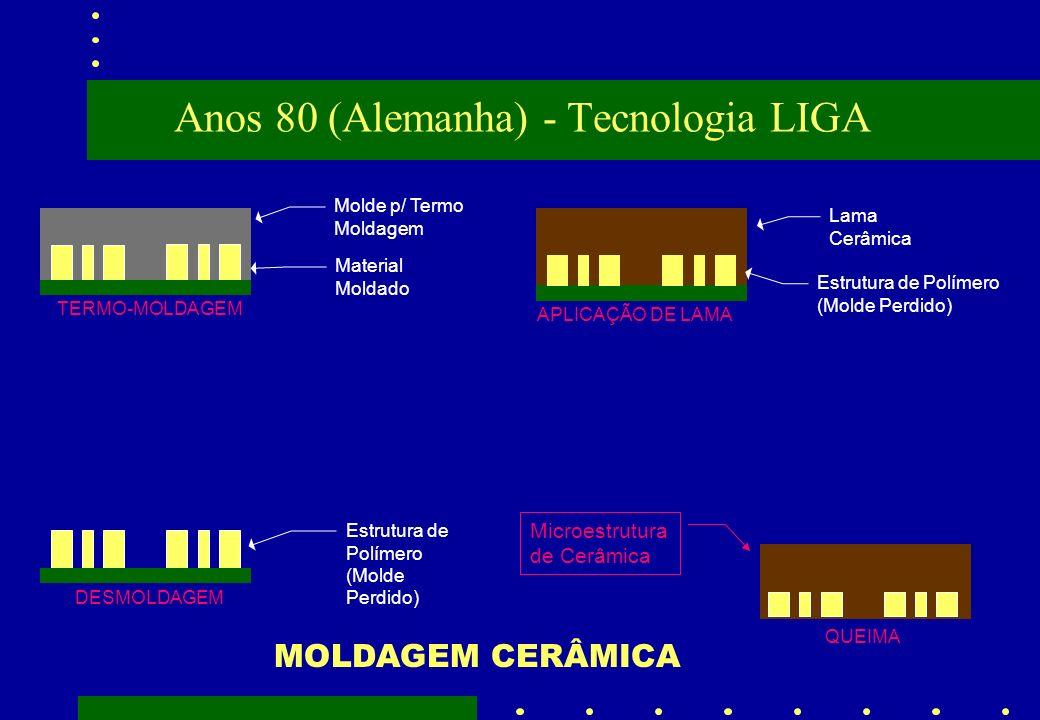 TERMO-MOLDAGEM Molde p/ Termo Moldagem Material Moldado Estrutura de Polímero (Molde Perdido) DESMOLDAGEM APLICAÇÃO DE LAMA Lama Cerâmica Estrutura de