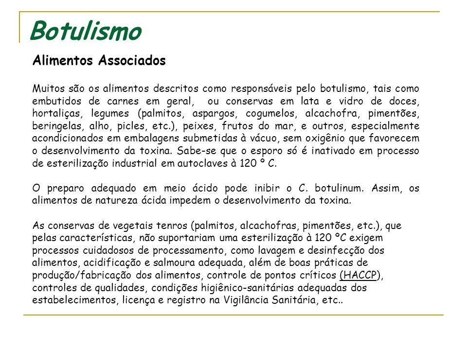 Botulismo Conduta laboratorial 1) Presença de toxina antibotulínica no sangue do paciente e neutralização da toxina em camundongos - teste em camundon