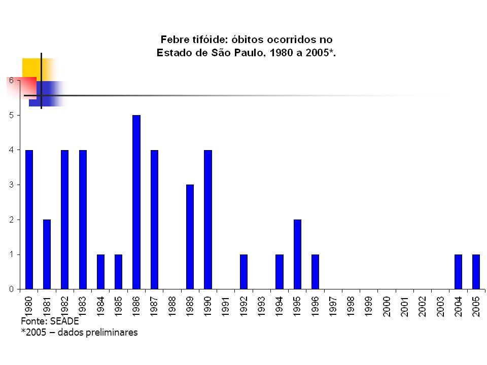 Fonte: SEADE *2005 – dados preliminares
