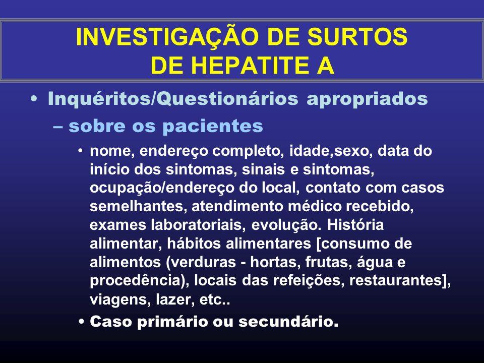 Tipo do local: –Instituição fechadas: Moradores (asilos, orfanatos, presídios) - procedimentos internos Centros/dia (creches, escolas) - procedimentos