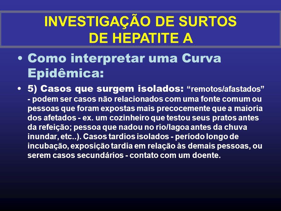 Como interpretar uma Curva Epidêmica: 3)Quando a duração à exposição é prolongada a epidemia é chamada de epidemia de fonte comum prolongada, e a curv