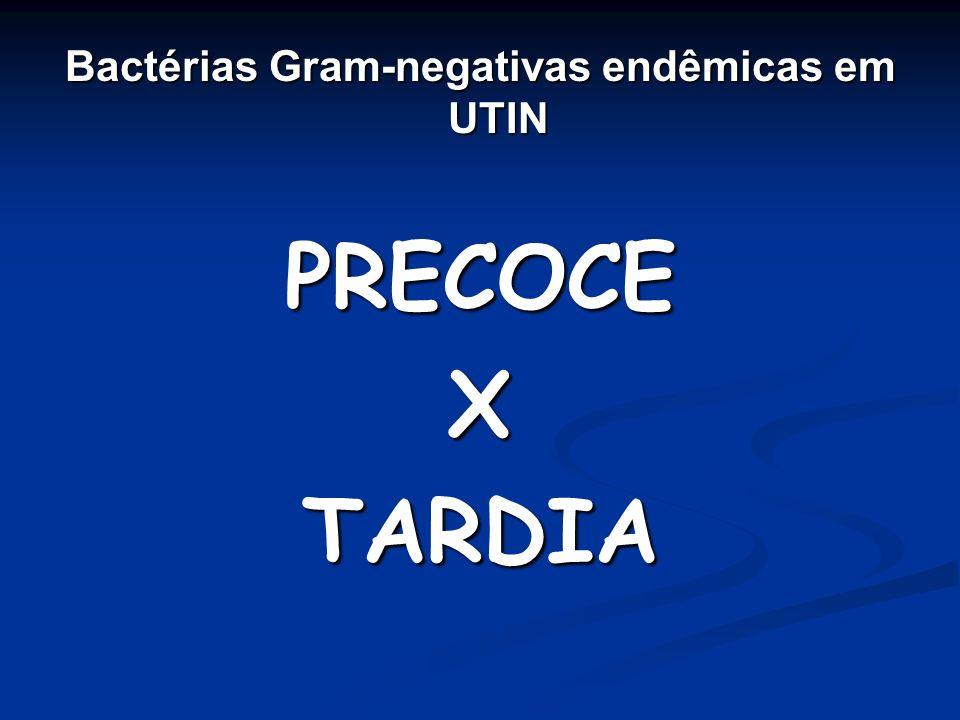Bactérias Gram-negativas endêmicas em UTIN PRECOCEXTARDIA