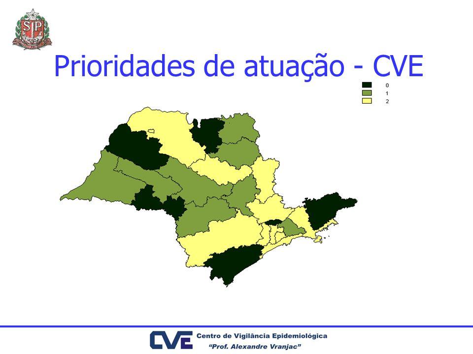 Prioridades de atuação - CVE
