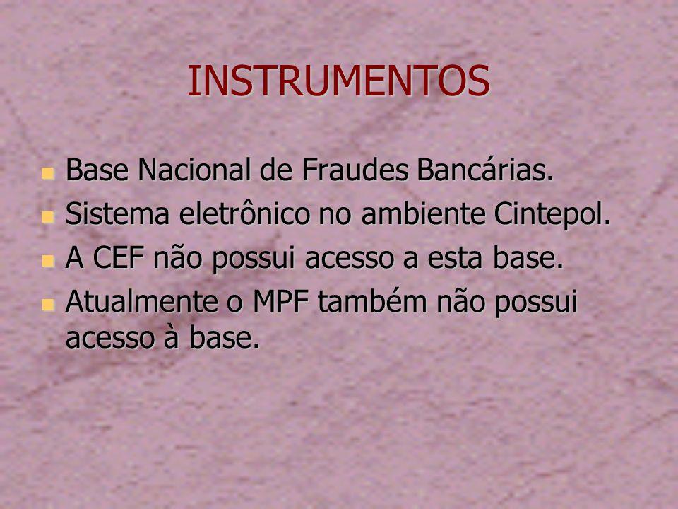 INSTRUMENTOS Base Nacional de Fraudes Bancárias.Base Nacional de Fraudes Bancárias.