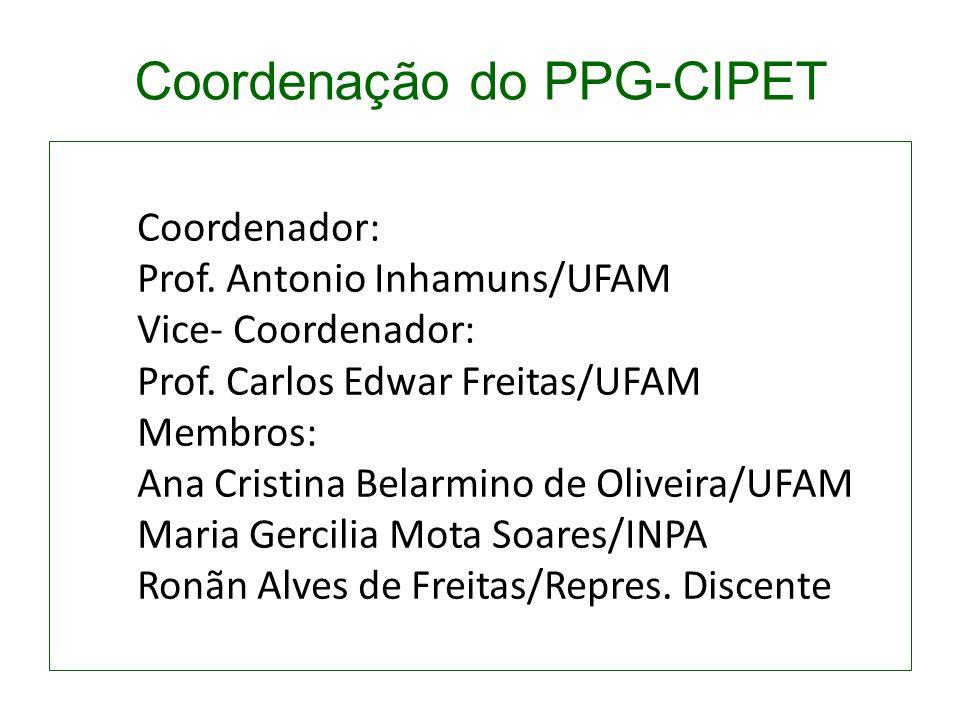 Coordenador: Prof. Antonio Inhamuns/UFAM Vice- Coordenador: Prof. Carlos Edwar Freitas/UFAM Membros: Ana Cristina Belarmino de Oliveira/UFAM Maria Ger