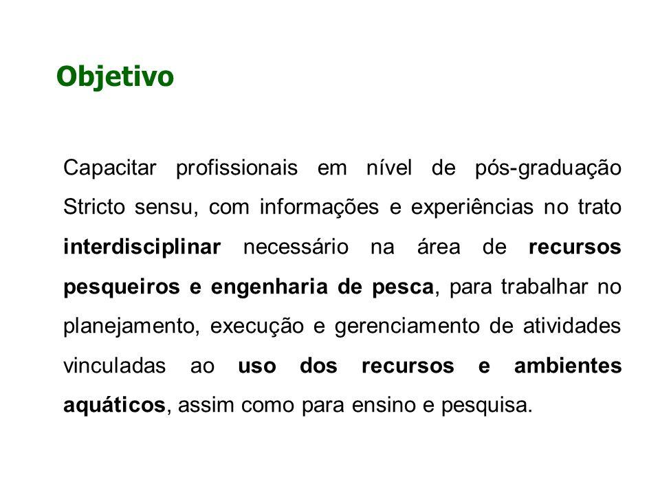 Objetivo Capacitar profissionais em nível de pós-graduação Stricto sensu, com informações e experiências no trato interdisciplinar necessário na área