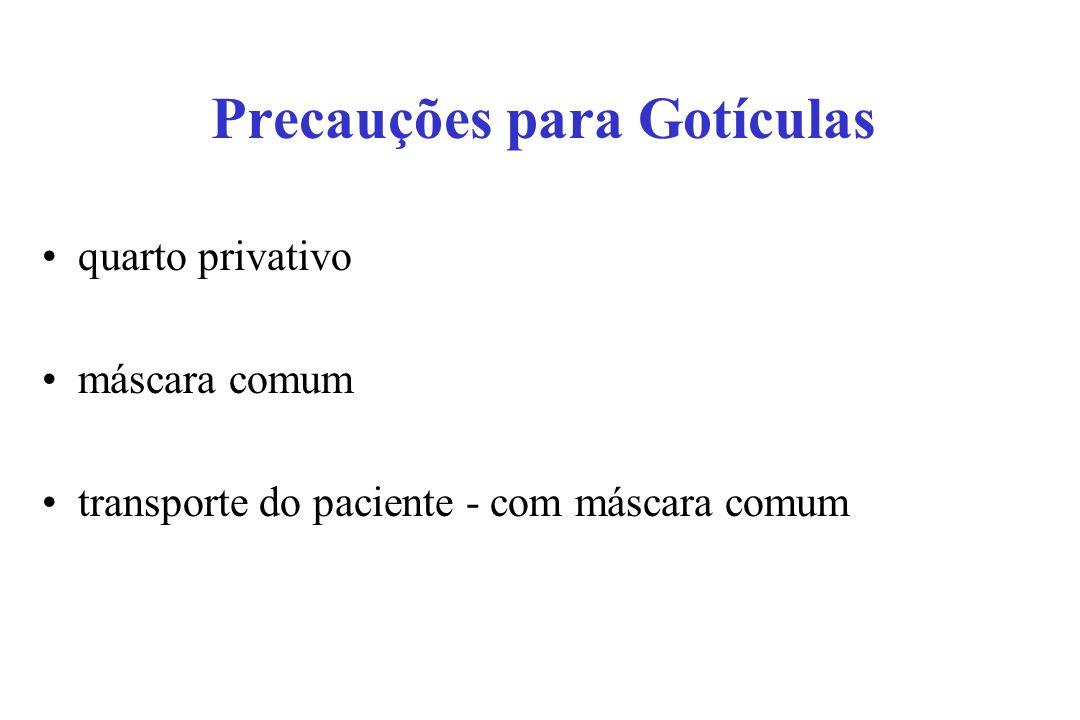 Precauções para Gotículas quarto privativo máscara comum transporte do paciente - com máscara comum