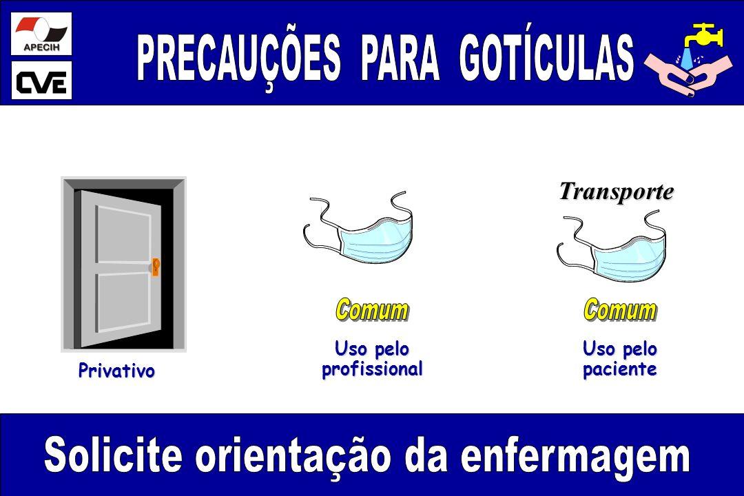 Uso pelo profissional profissional paciente Transporte Privativo