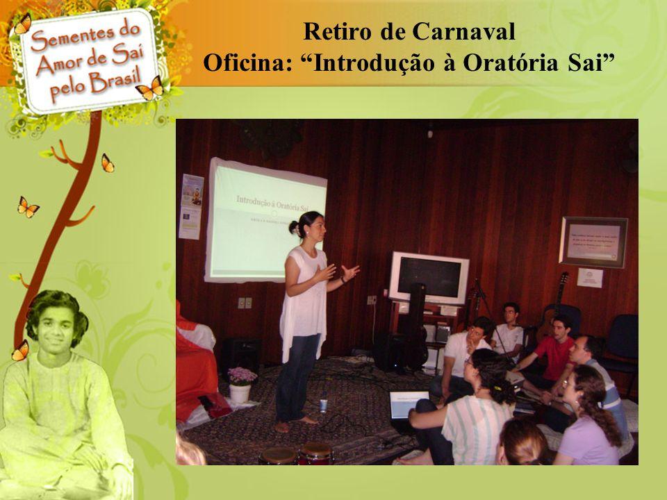 Retiro de Carnaval Oficina: Introdução à Oratória Sai