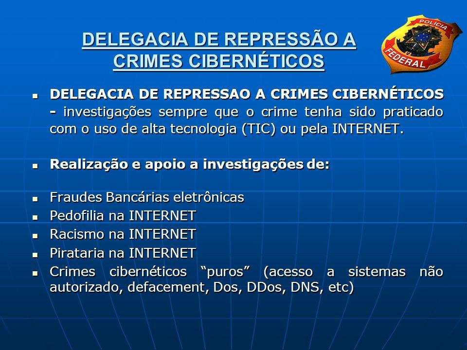 DELEGACIA DE REPRESSÃO A CRIMES CIBERNÉTICOS DELEGACIA DE REPRESSAO A CRIMES CIBERNÉTICOS - investigações sempre que o crime tenha sido praticado com