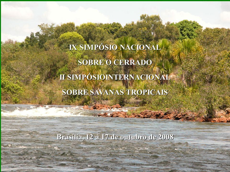 Riscos Cerrado poderá ser tornar semi-árido Sem água a jusante para abastecimento, agricultura e energia Interdependência ecossistêmica Interdependência ecológica dos biomas Colapso da fronteira dos agrocombustíveis.