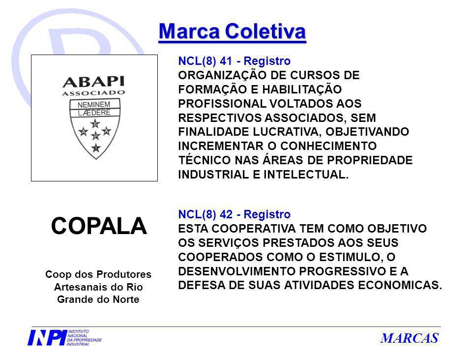 MARCAS Marca Coletiva NCL(8) 41 - Registro ORGANIZAÇÃO DE CURSOS DE FORMAÇÃO E HABILITAÇÃO PROFISSIONAL VOLTADOS AOS RESPECTIVOS ASSOCIADOS, SEM FINAL