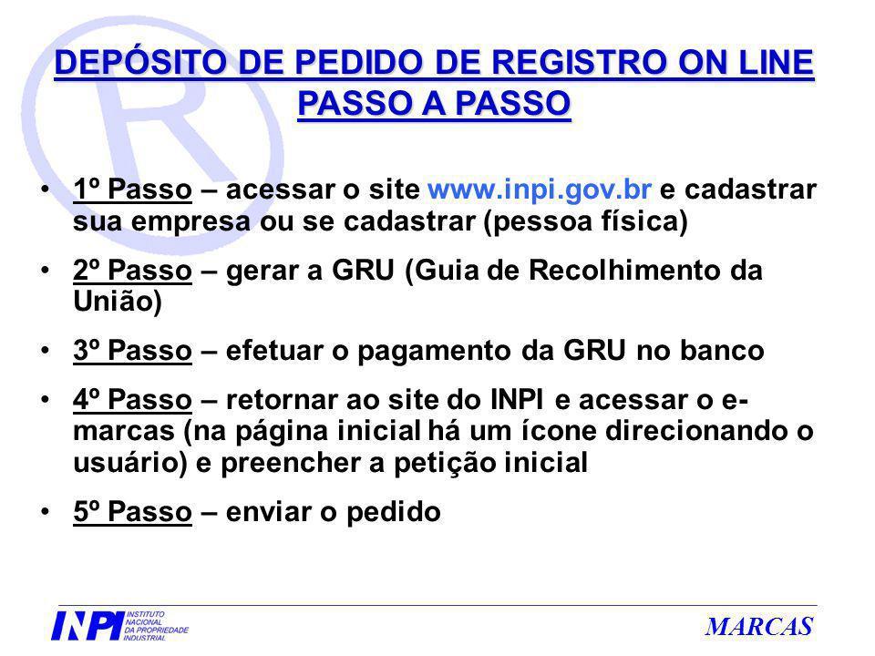 1º Passo – acessar o site www.inpi.gov.br e cadastrar sua empresa ou se cadastrar (pessoa física) 2º Passo – gerar a GRU (Guia de Recolhimento da Uniã