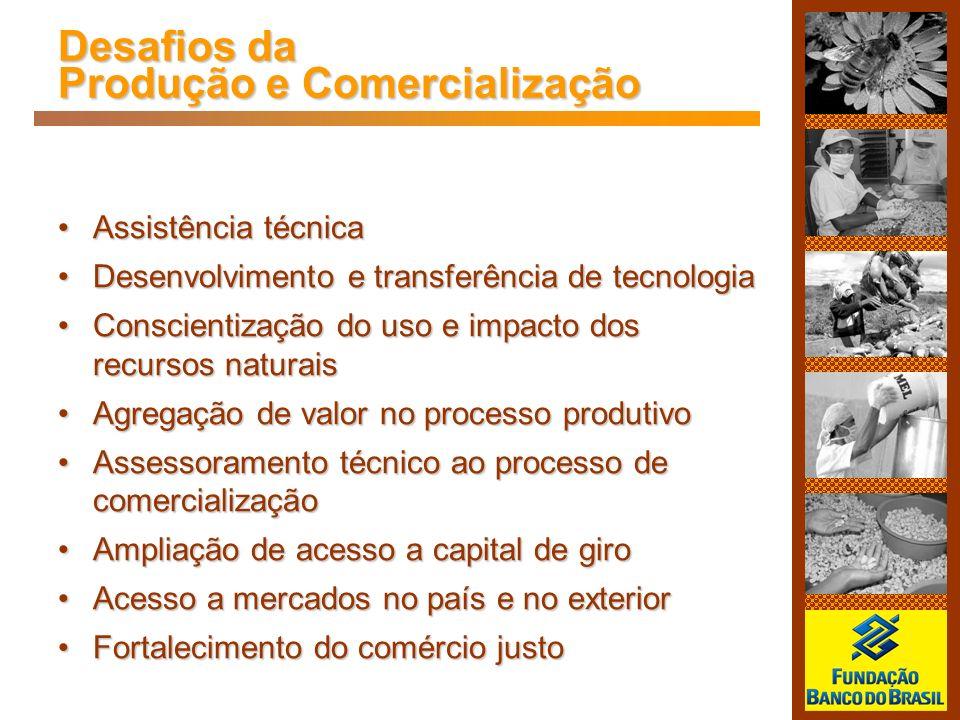 Desafios da Produção e Comercialização Assistência técnicaAssistência técnica Desenvolvimento e transferência de tecnologiaDesenvolvimento e transferê