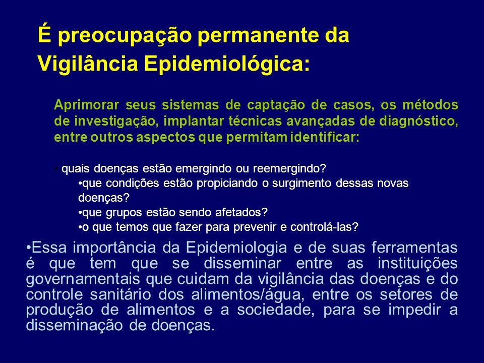 É preocupação permanente da Vigilância Epidemiológica: Essa importância da Epidemiologia e de suas ferramentas é que tem que se disseminar entre as in