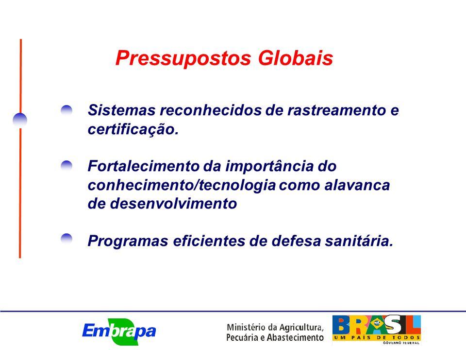 Sistemas reconhecidos de rastreamento e certificação.