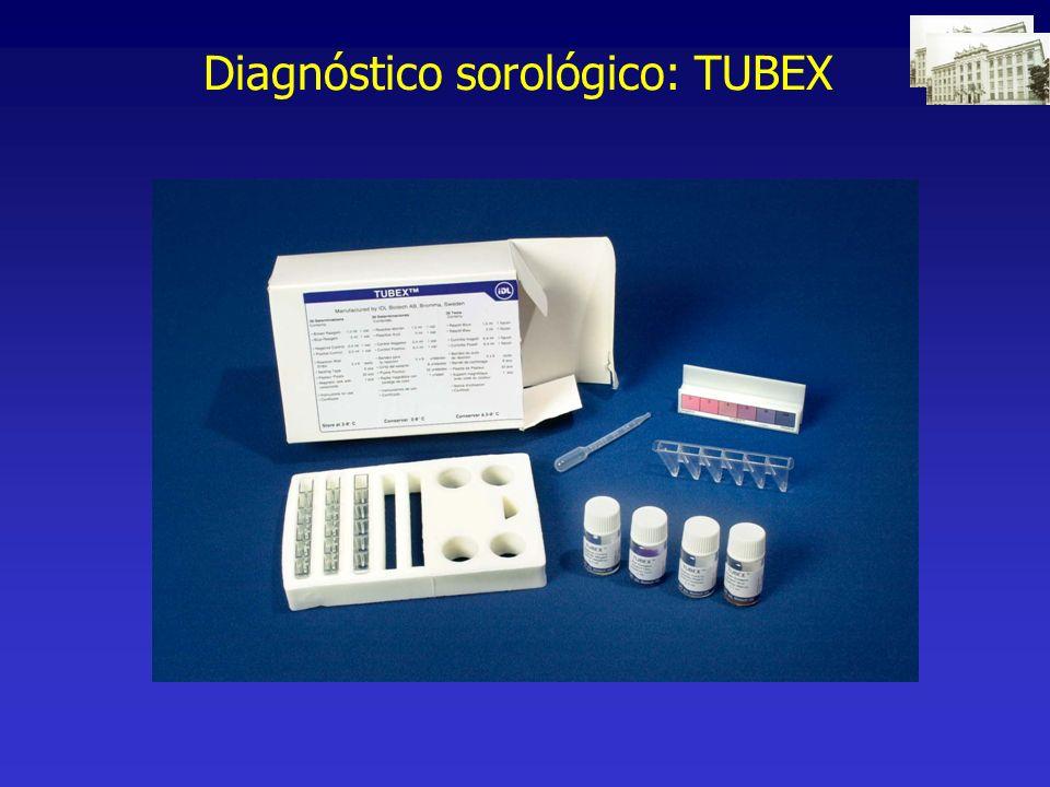 Diagnóstico sorológico: TUBEX