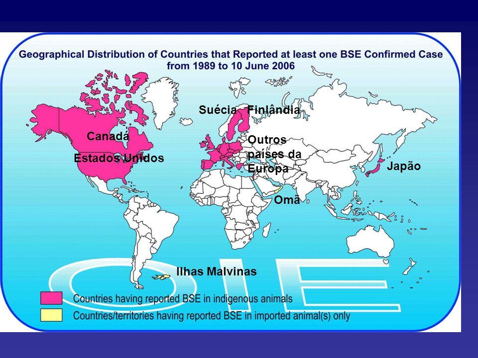 Omã Ilhas Malvinas Canadá Estados Unidos Suécia Finlândia Japão Outros países da Europa