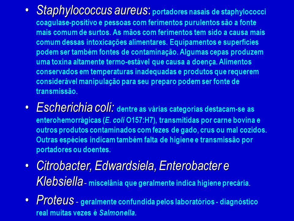 Staphylococcus aureus : Staphylococcus aureus : portadores nasais de staphylococci coagulase-positivo e pessoas com ferimentos purulentos são a fonte