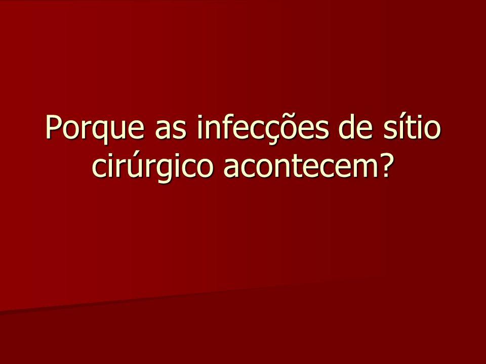 Porque as infecções de sítio cirúrgico acontecem?