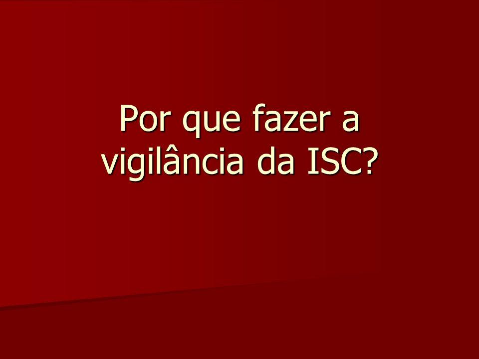 Por que fazer a vigilância da ISC?