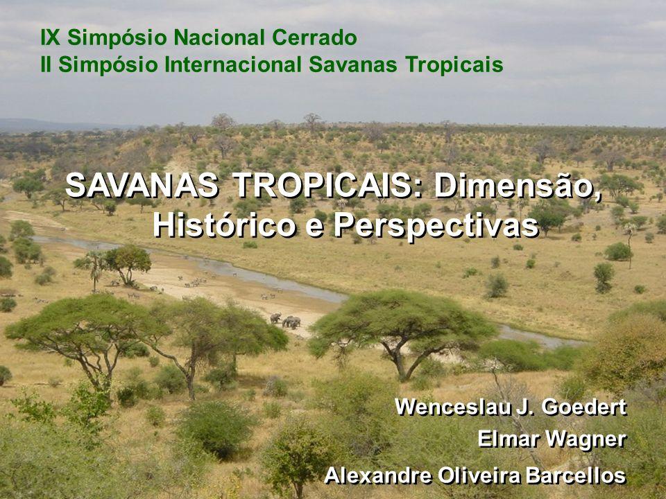 Savanas Ecossistemas caracterizados pela presença de uma camada contínua de vegetação herbácea e um dossel descontínuo de arbustos e árvores