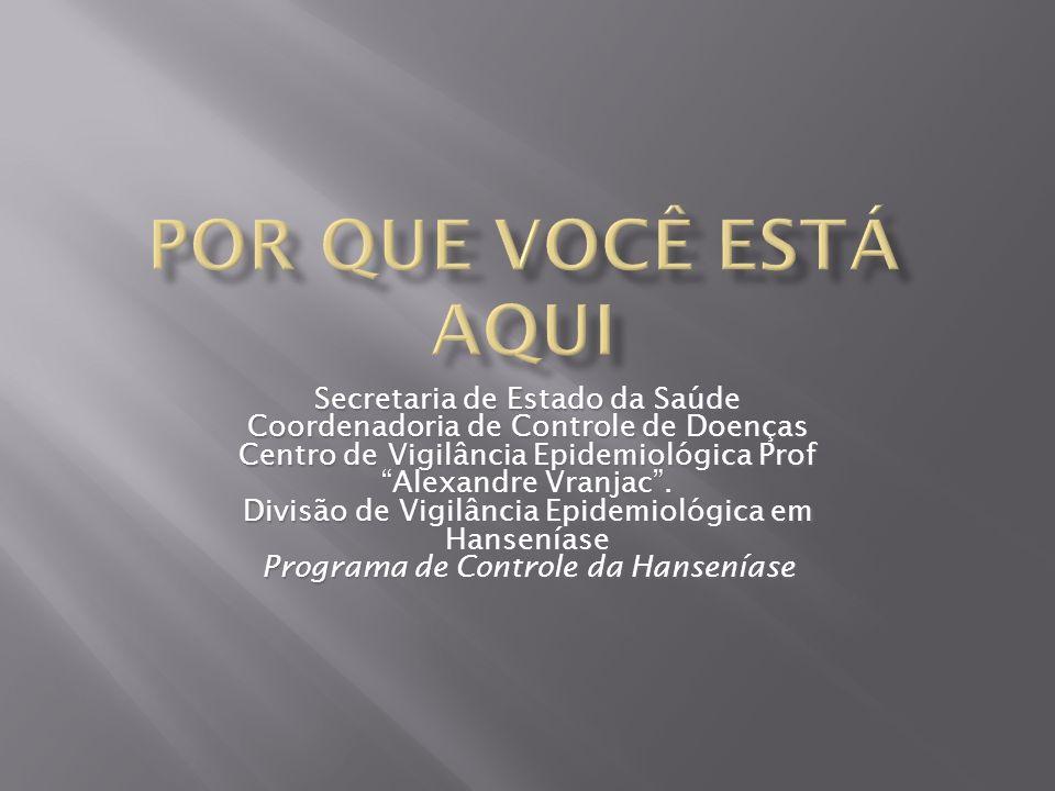 Secretaria de Estado da Saúde Coordenadoria de Controle de Doenças Centro de Vigilância Epidemiológica Prof Alexandre Vranjac. Divisão de Vigilância E