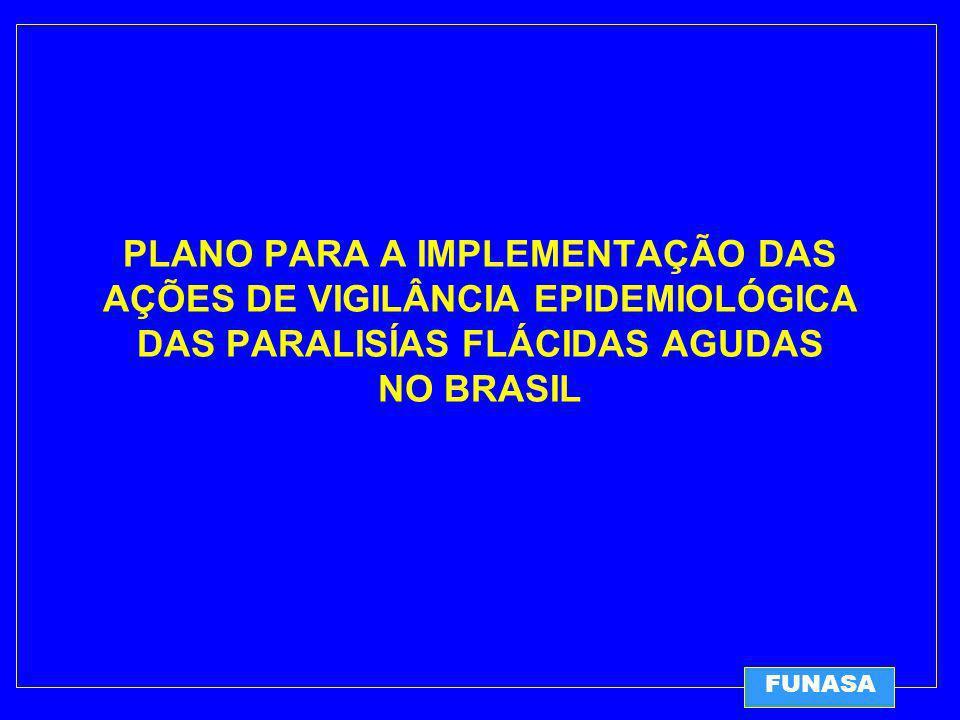 PLANO PARA A IMPLEMENTAÇÃO DAS AÇÕES DE VIGILÂNCIA EPIDEMIOLÓGICA DAS PARALISÍAS FLÁCIDAS AGUDAS NO BRASIL FUNASA