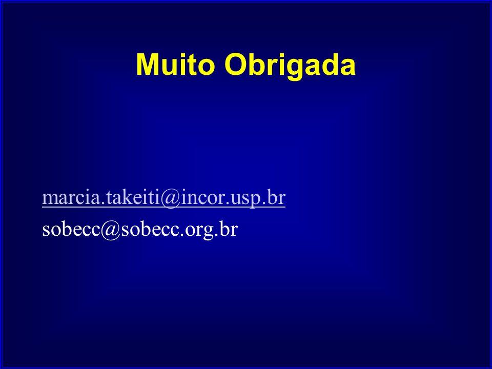 Muito Obrigada marcia.takeiti@incor.usp.br sobecc@sobecc.org.br