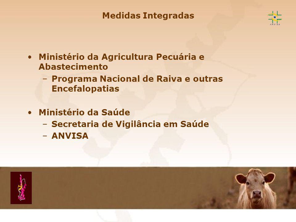 Encefalopatia Espongiforme Transmissível EET Medidas Integradas Ministério da Agricultura Pecuária e Abastecimento –Programa Nacional de Raiva e outra