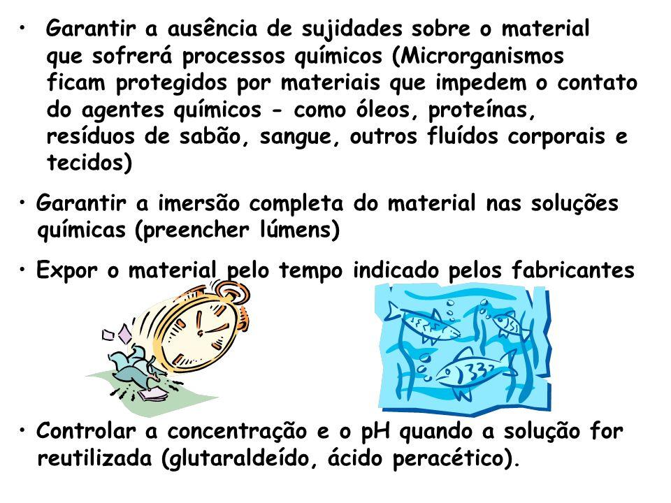 Garantir a ausência de sujidades sobre o material que sofrerá processos químicos (Microrganismos ficam protegidos por materiais que impedem o contato