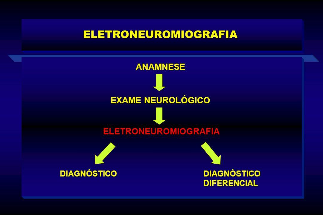 ELETRONEUROMIOGRAFIA ANAMNESE EXAME NEUROLÓGICO ELETRONEUROMIOGRAFIA ELETRONEUROMIOGRAFIA DIAGNÓSTICO DIAGNÓSTICO DIFERENCIAL